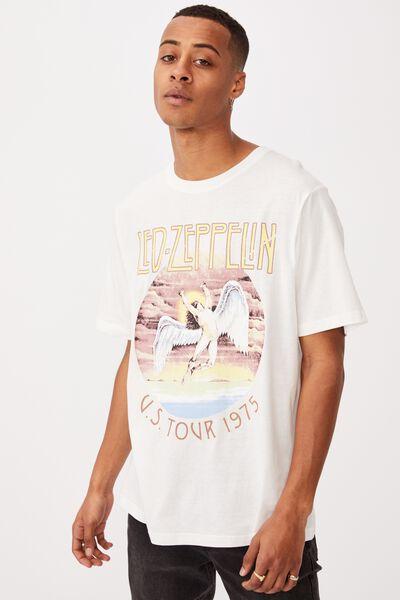 Tbar Collab Music T-Shirt, LCN ARA VINTAGE WHITE/LED ZEPPLIN-US TOUR 197