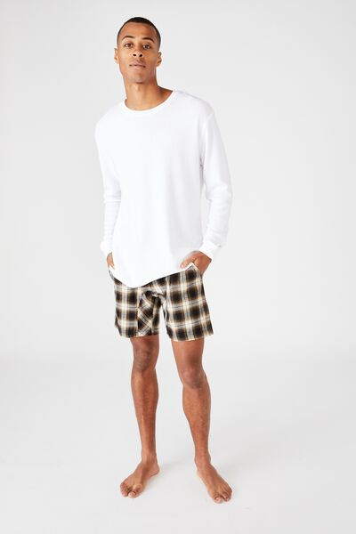 Lounge Short, NAVY / BRONZE CHECK