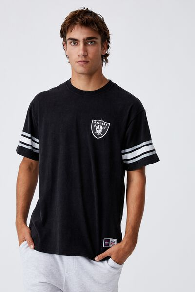 Active Collab Oversized T-Shirt, LCN NFL BLACK/NFL - RAIDERS OVERSIZED SHEILD