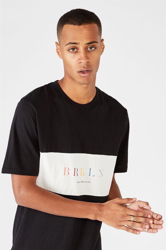 Tbar Street T-Shirt, BLACK/WHITE MARLE/BRKLYN PANEL