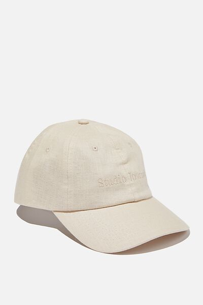 Strap Back Dad Hat, ECRU TEXTURE/STUDIO JOURNAL
