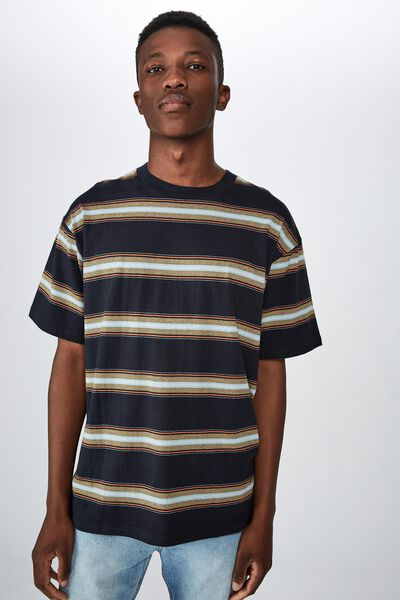 Dylan Tee, LATE NIGHT BLUE OVERSIZED STRIPE