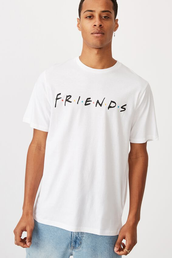 Tbar Collab Movie And Tv T-Shirt, LCN WB WHITE/FRIENDS - LOGO