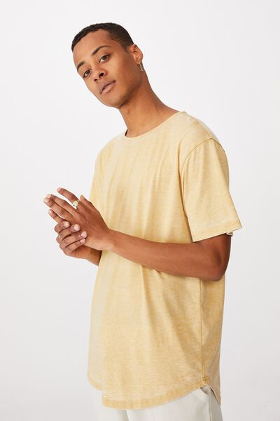 Longline Scoop Burnout T-Shirt, FROSTED HONEY