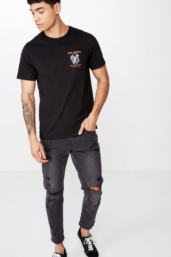 Tbar Art T-Shirt, BLACK/BAD TIMING