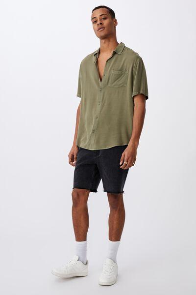 Cuban Short Sleeve Shirt, WASHED KHAKI