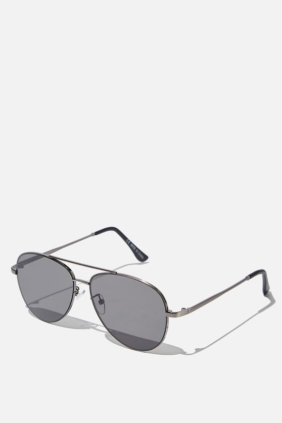 Marshall Sunglasses, SILVER MATTE BLACK SMOKE FLAT