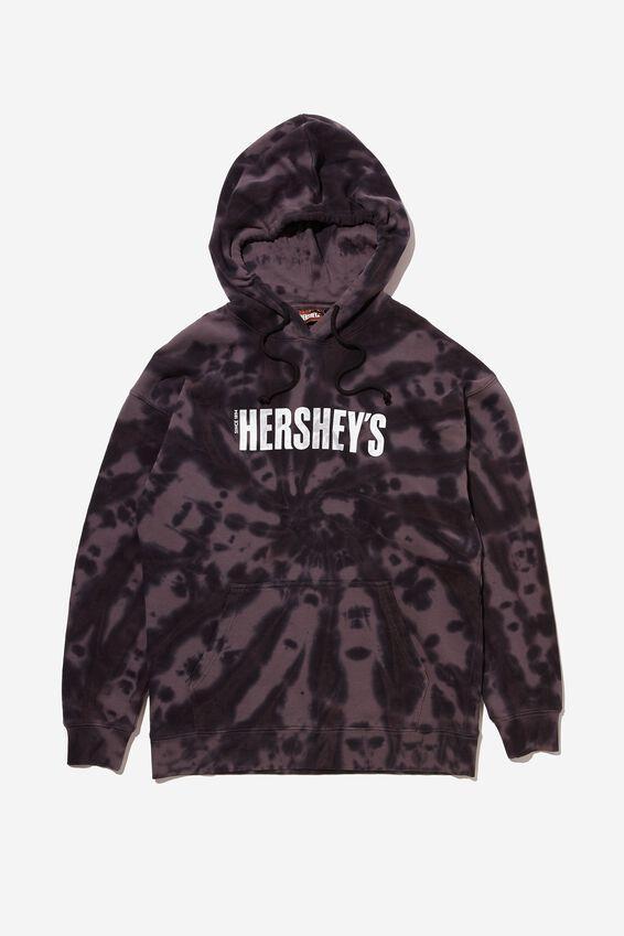 Premium Collab Fleece Pullover, LCN HER NIGHT TIE DYE/HERSHEY S LOGO
