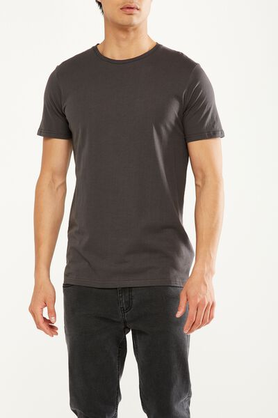 Essential Crew Tee, CINDER GREY