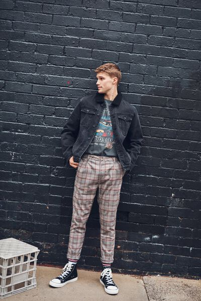 Oxford Trouser, GREY PRINCE CHECK