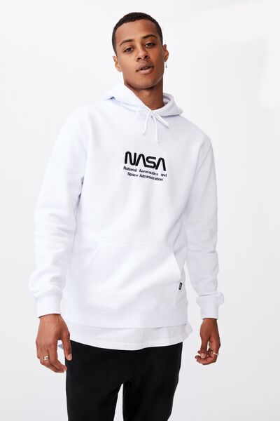Collab Fleece Pullover, LCN NAS WHITE/NASA LOGO