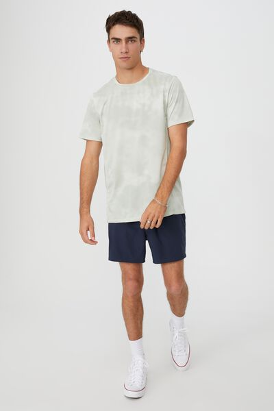 Active Tech T-Shirt, STEEL GREEN MESH TIE DYE