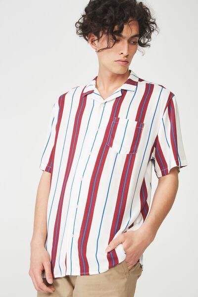 Festival Shirt, WHITE BURG VERT STRIPE