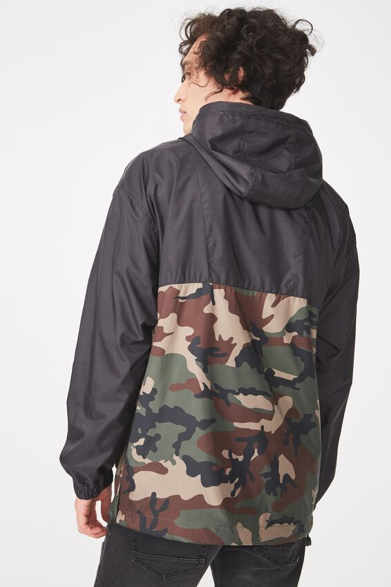 Active Spray Jacket, BLACK/CAMO/MAROON