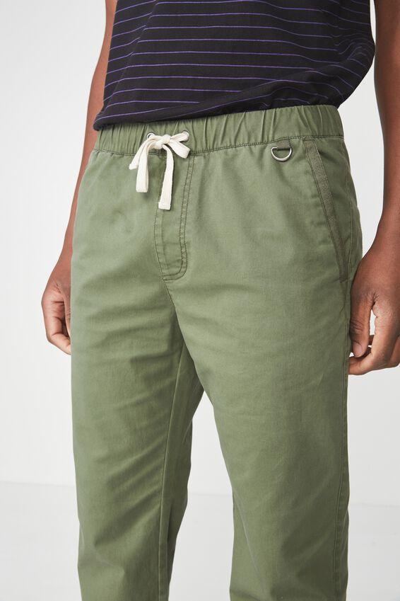 Drake Cuffed Pant, SNAKE GREEN POCKET HERRINGBONE