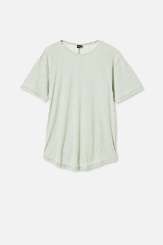 Longline Scoop Burnout T-Shirt, PISTACHIO