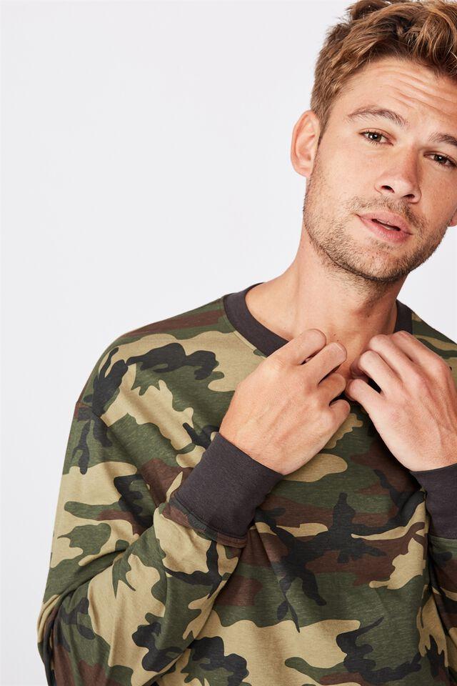 Tbar Long Sleeve T-Shirt, ARMY CAMO