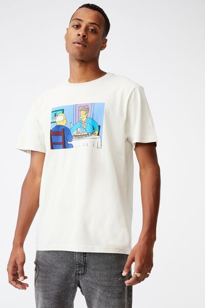 Tbar Collab Movie And Tv T-Shirt, LCN DIS BONE/THE SIMPSONS-STEAMED HAMS