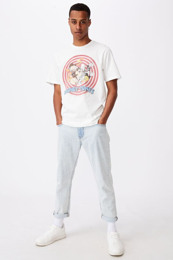 Tbar Collab Character T-Shirt, LCN WB VINTAGE WHITE/LOONEY TUNES-GROUP