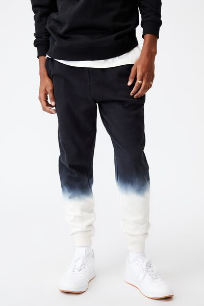 Trippy Slim Trackie, WASHED BLACK/BONE DIP DYE