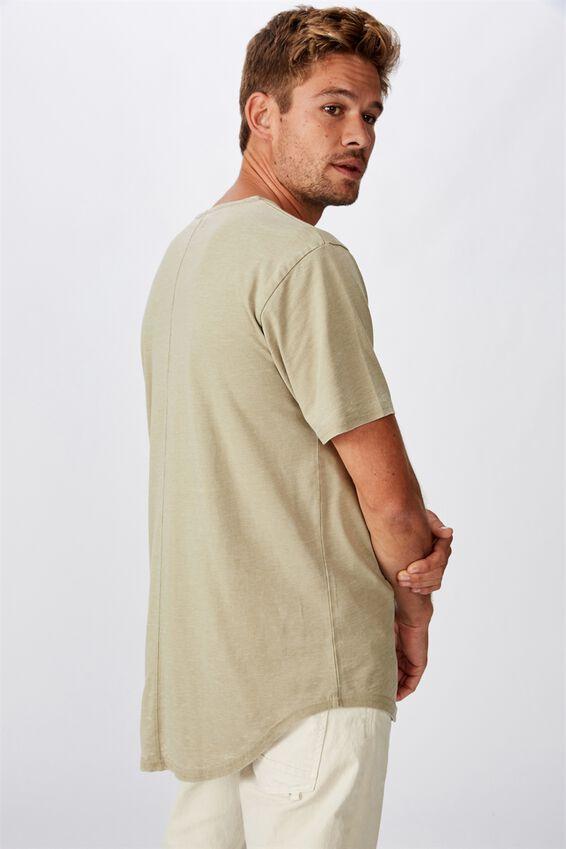 Longline Scoop Burnout T-Shirt, BLAIR GREEN