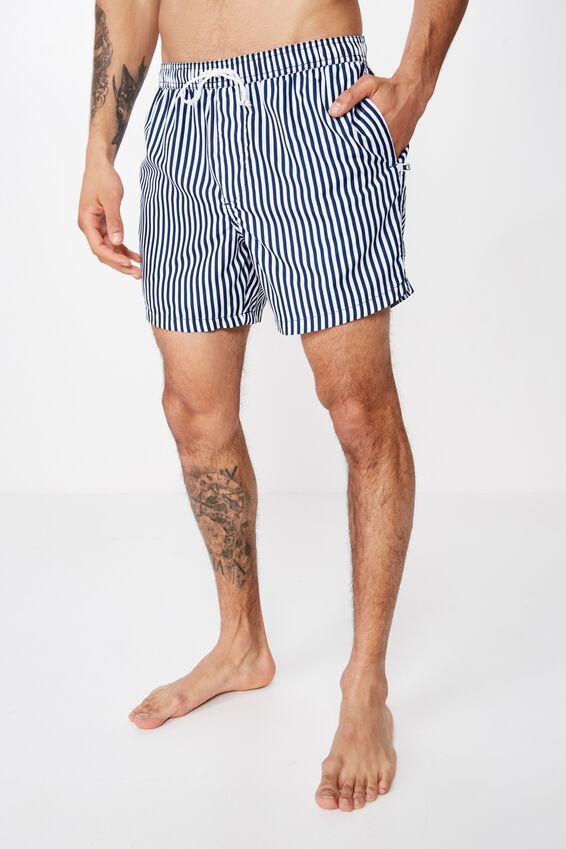 Swim Short, NAVY / WHITE STRIPE