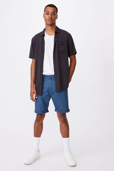 Washed Chino Short, PIGMENT AIRFORCE BLUE
