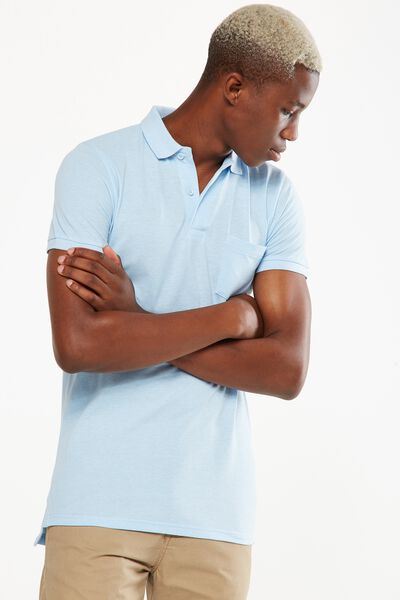 Icon Polo, SKY BLUE MARLE SLIM