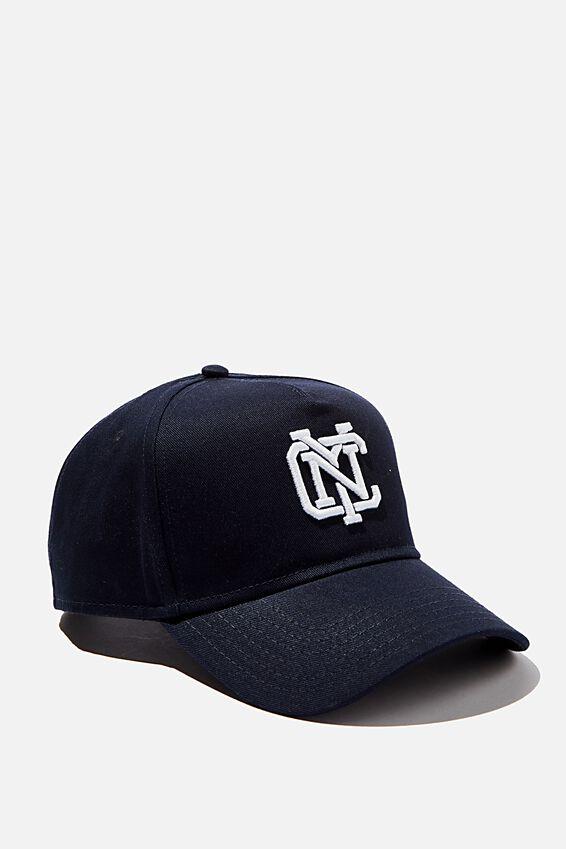 Curved Peak Snapback, NAVY/WHITE/NYC