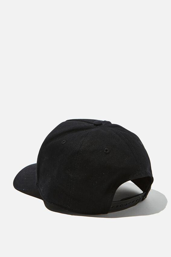 Curved Peak Snapback, BLACK/WHITE/LA