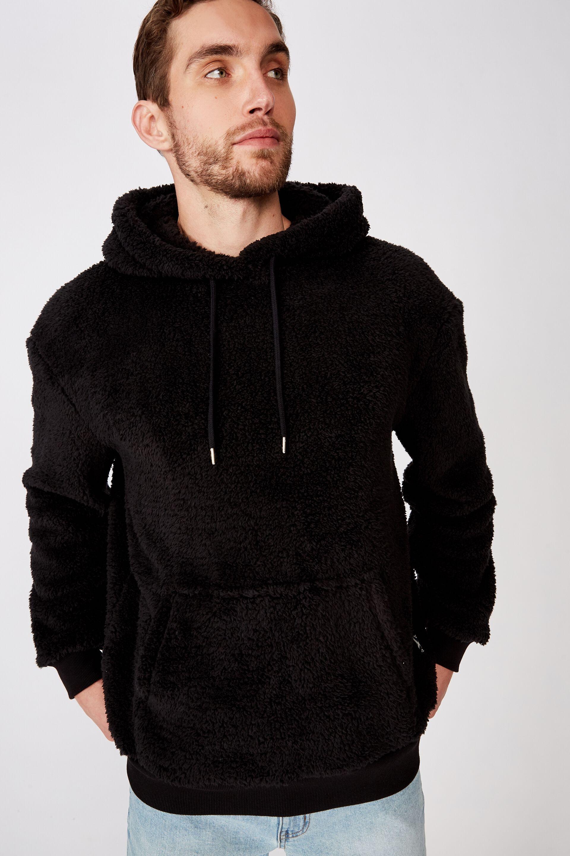 Drop Shoulder Teddy Fleece Hood | Cotton On