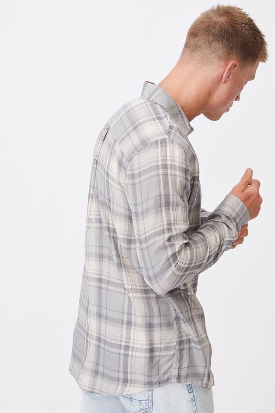 Premium Check Shirt, WHITE BLUE CHECK