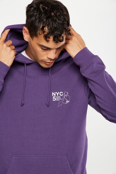 Fleece Pullover 2, IMPERIAL PURPLE/NYC 5 BOROUGHS