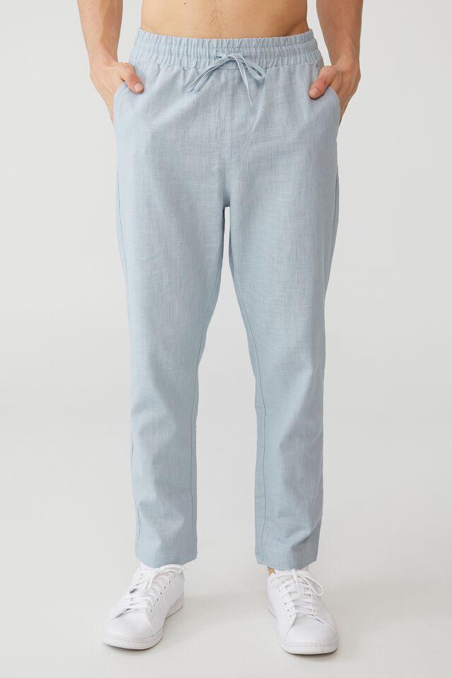 East Coast Textured Pant, DUSTY BLUE