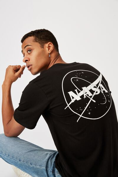 Tbar Collab Pop Culture T-Shirt, LCN NAS BLACK/NASA-MEATBALL LOGO