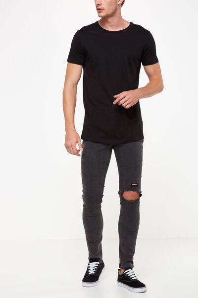 Super Skinny Jean, USED BLACK + BLOWOUT