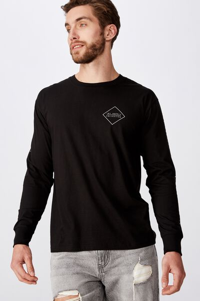 Tbar Long Sleeve, BLACK/INT.SUPPLY