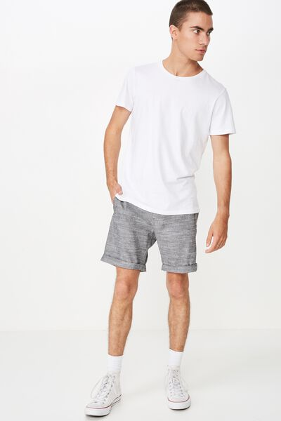 Washed Chino Short, BLACK CHAMBRAY
