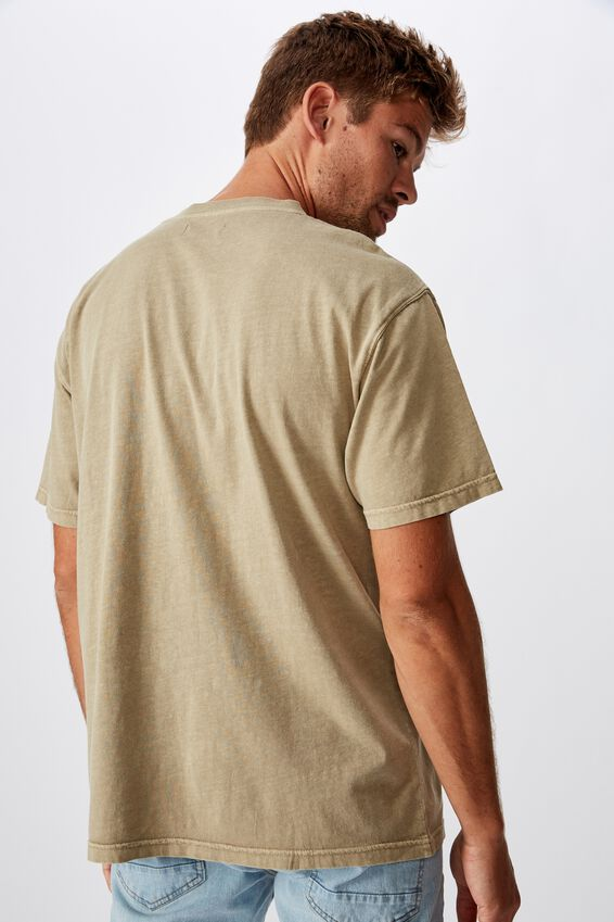 Washed Pocket T-Shirt, GRAVEL STONE