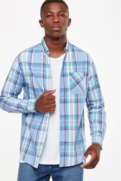 Brunswick Shirt 3, SKY MULTI CHECK