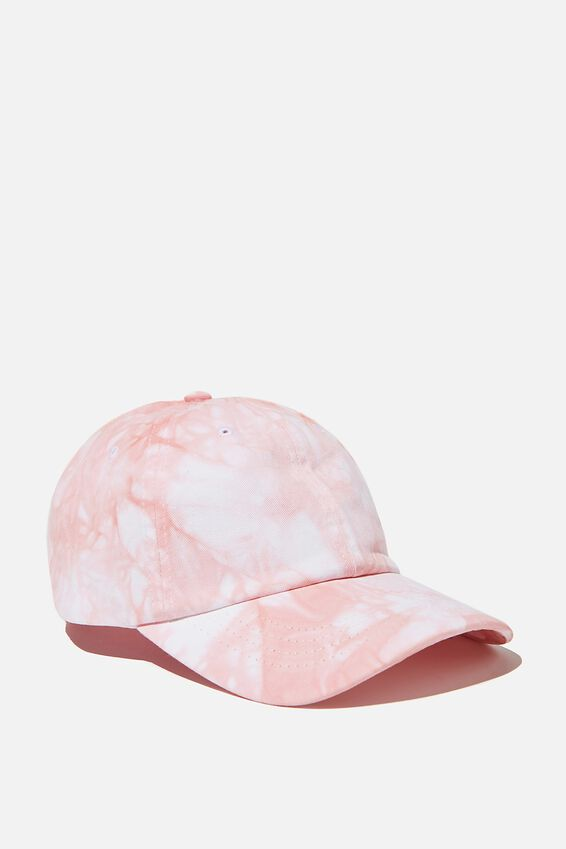Tie Dye Dad Hat, DUSTY PINK/WHITE TIE DYE