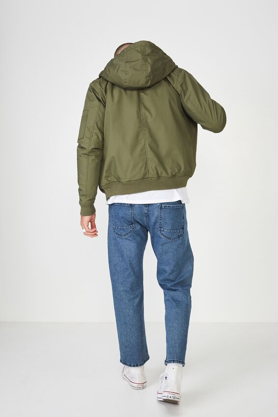 Ma1 Hooded Bomber Jacket, KHAKI
