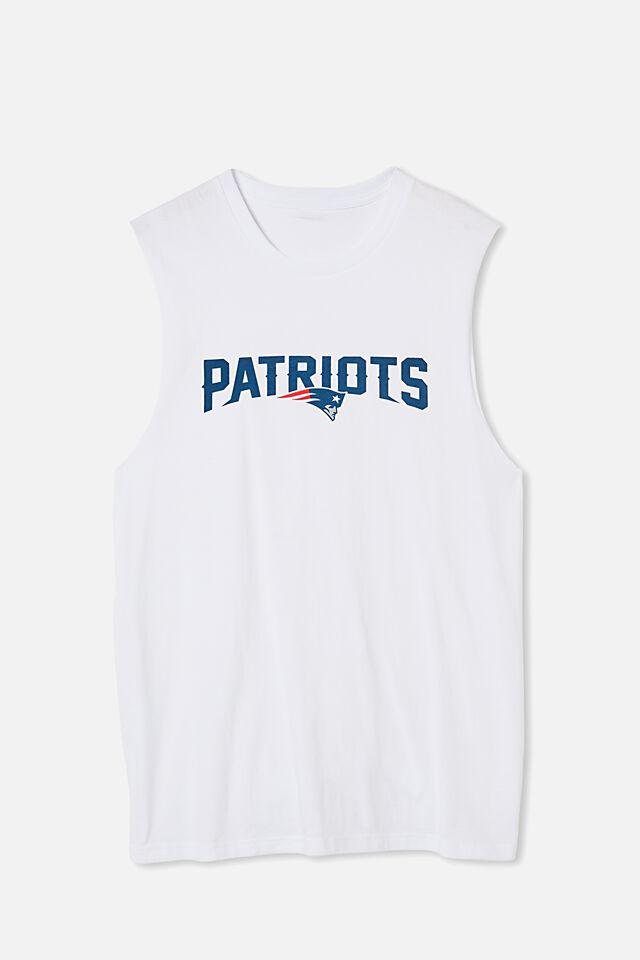 Active Nfl Muscle, LCN NFL WHITE/PATRIOTS-LOGO