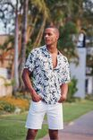 Short Sleeve Resort Shirt, MINIMAL FLORAL