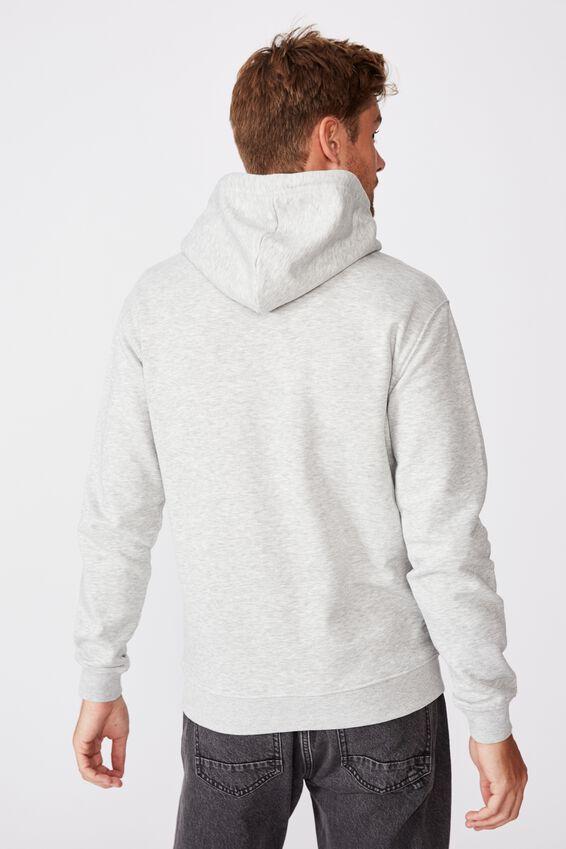 Essential Fleece Pullover, LIGHT GREY MARLE