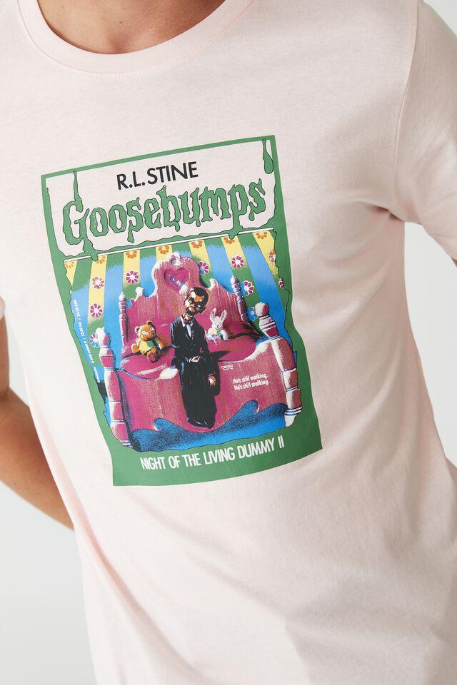 Tbar Collab Pop Culture T-Shirt, LCN SON PARADISE PINK/GOOSEBUMPS - NIGHT OF T