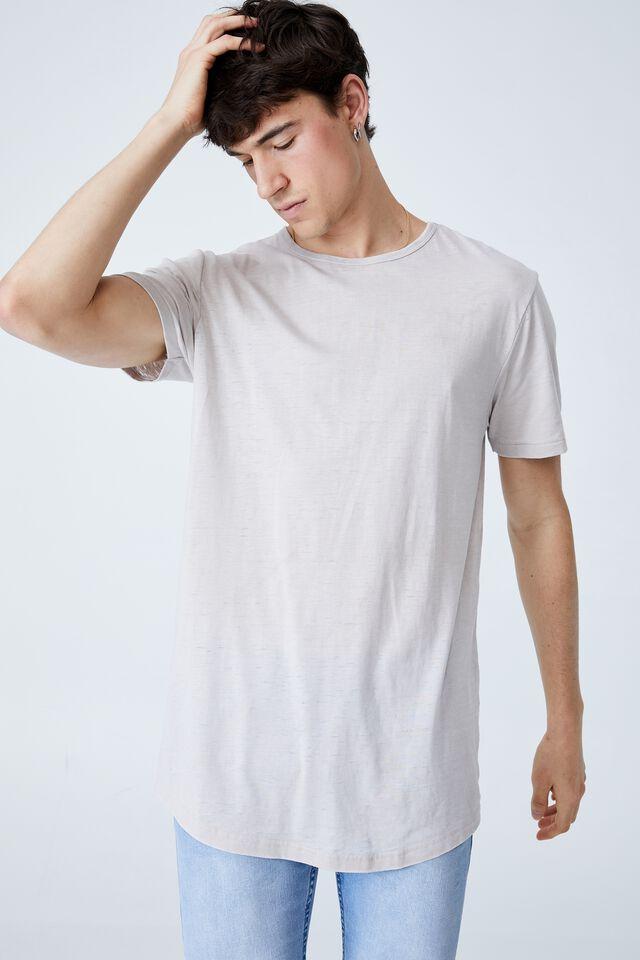 Curved Hem T-Shirt, SMOKE BURNOUT