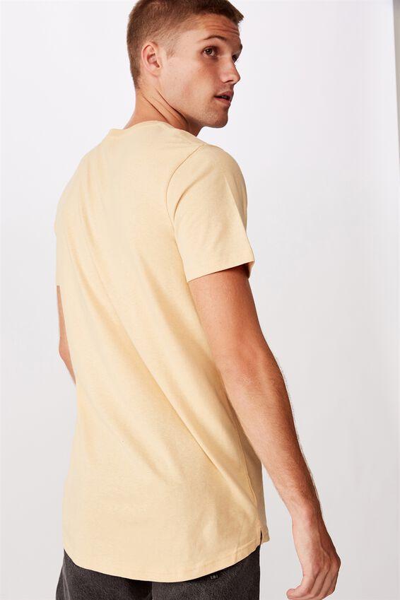 Essential Longline Scoop T-Shirt, SUNBLEACH