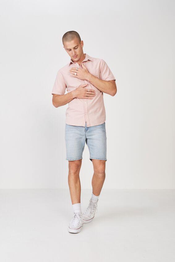 Vintage Prep Short Sleeve Shirt, DUSTY PINK