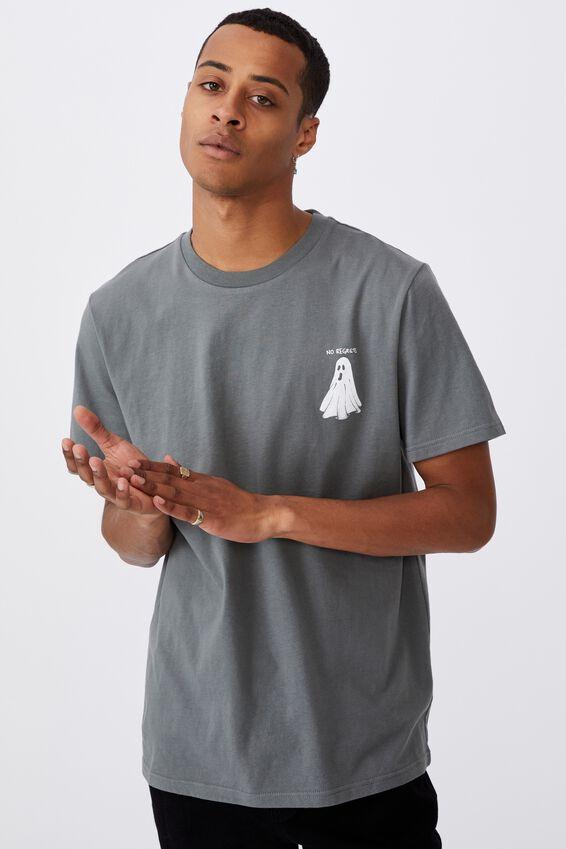 Tbar Art T-Shirt, SLATE STONE/NO REGRETS